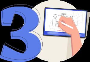 Troisième étape de la topométhode : le storyboard