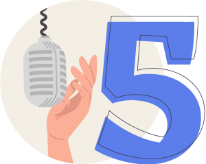 Cinquième étape de la topométhode : la voix off