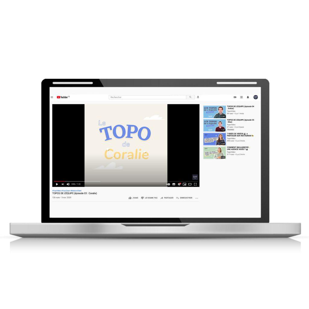 vidéo au format 4:5 sur YouTube regardée sur ordinateur