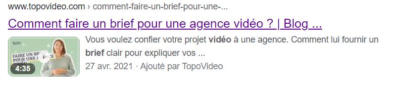 Résultats de recherche Google vidéo 3
