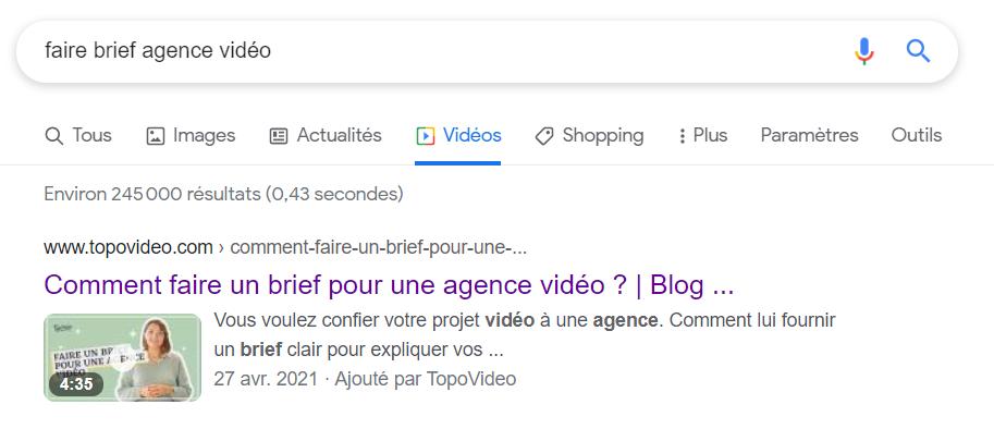 Résultats de recherche Google vidéo 4