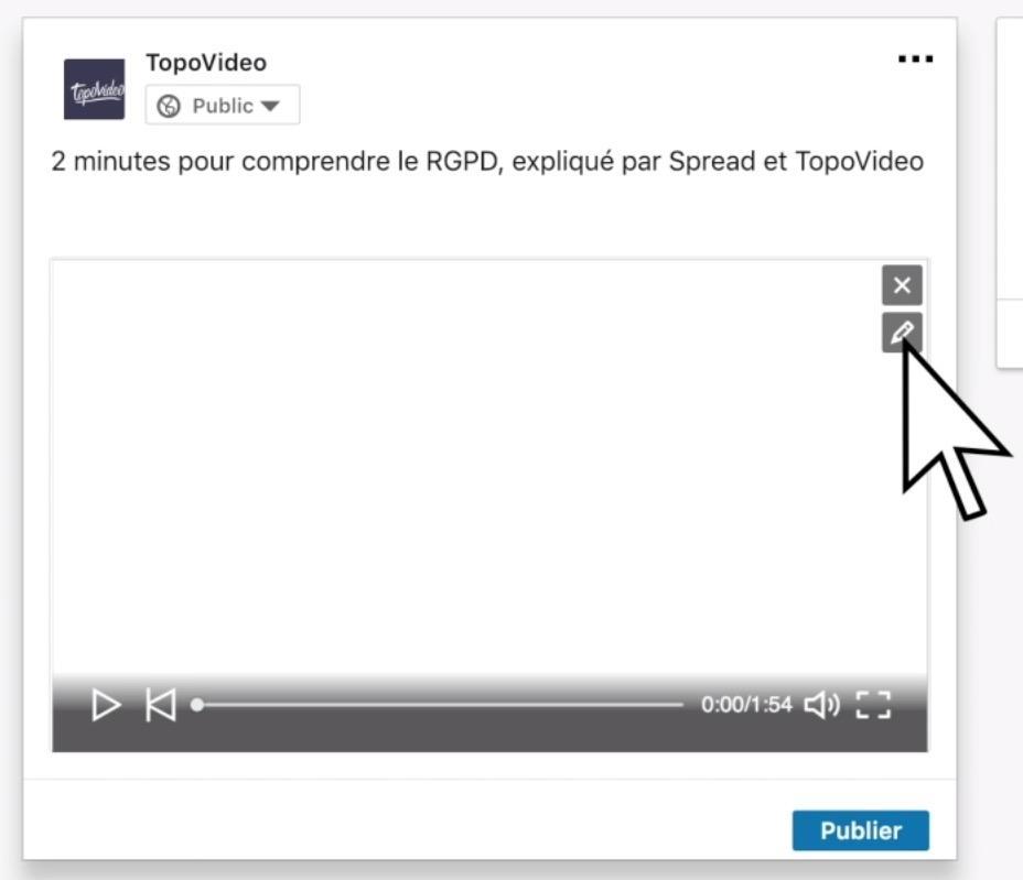 Publier une vidéo sur linkedin editer