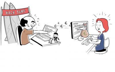 Vidéo scribing : Prévention cyber-attaques par TopoVideo