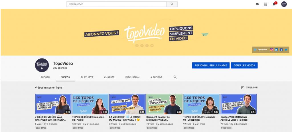 Chaîne YouTube TopoVideo