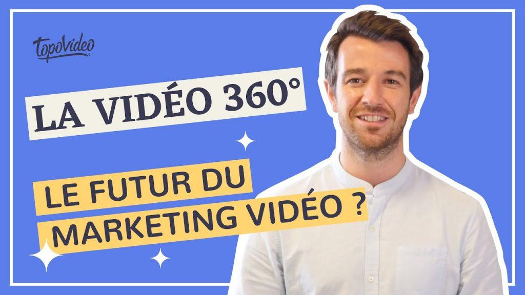 Exemple de vignette youtube pour la chaîne de TopoVideo : la vidéo 360, futur du vidéo marketing, Arthur
