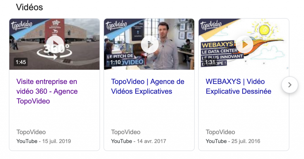 VSEO referencement naturel résultats vidéos