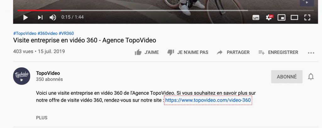 VSEo referencement naturel lien video youtube
