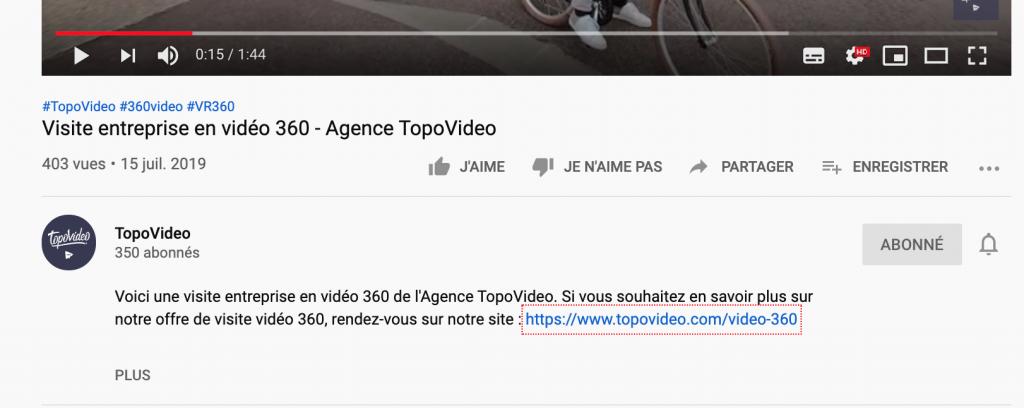 VSEo referencement naturel lien video youtube